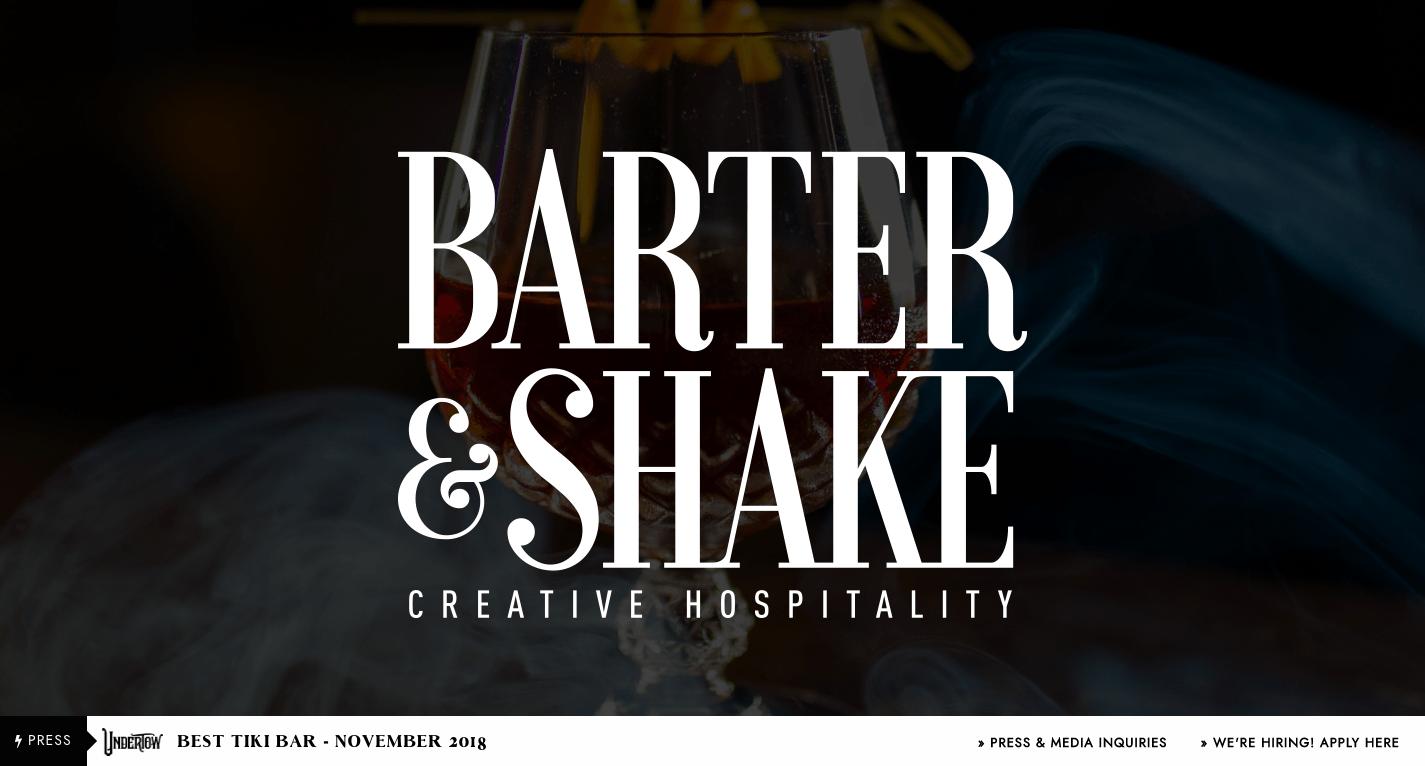 Barter Shake - Creative Hospitality