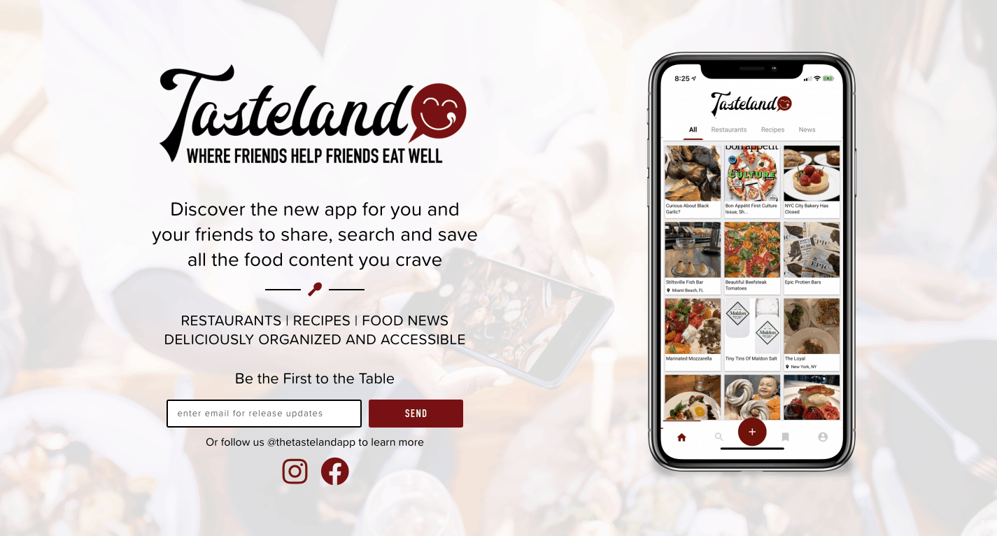 Tasteland Where Friends Help Friends Eat Well Share Discover Access (1)